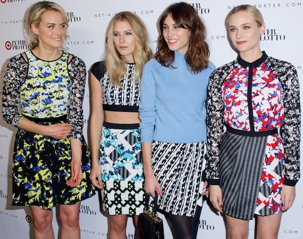 Taylor Schilling, Dree Hemingway, Alexa Chung, and Diane Kruger at the Peter Pilotto for Target launch