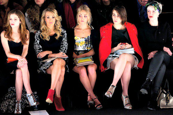 The front row at the Rebecca Minkoff fall/winter 2014 runway presentation during New York Fashion Week held at the Lincoln Center Theater in New York City on February 7, 2014