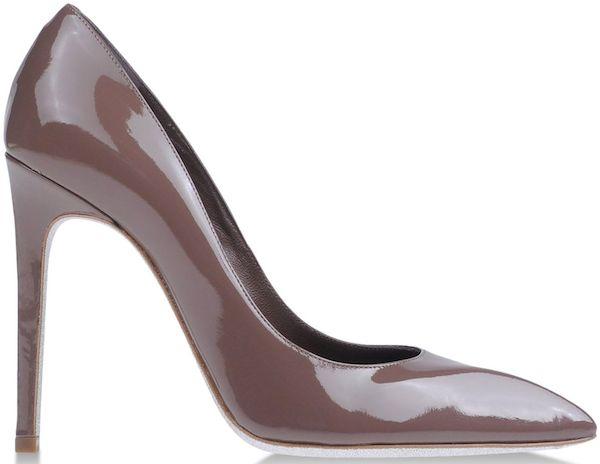 Rene Caovilla Pumps in Brown Patent Leather