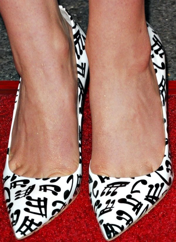 Sami Gayle'smusic-note pumps provided the finishing touches