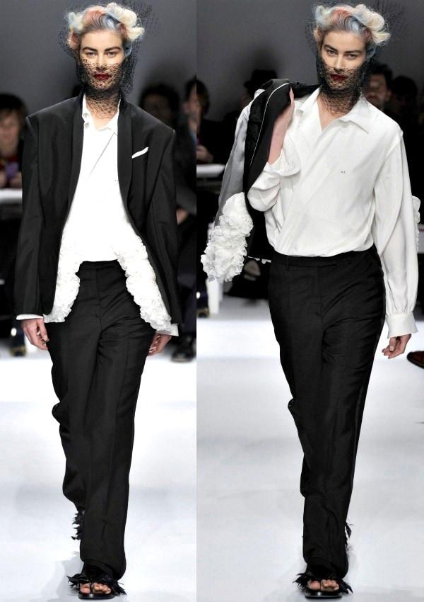 Schiaparelli's Spring/Summer 2014 collection runway show during Paris Haute Couture Fashion Week