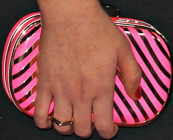 Stefanie Scotttotinga hot pink clutch