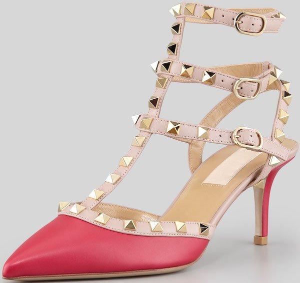 "Valentino ""Rockstud"" Pumps in Pink"