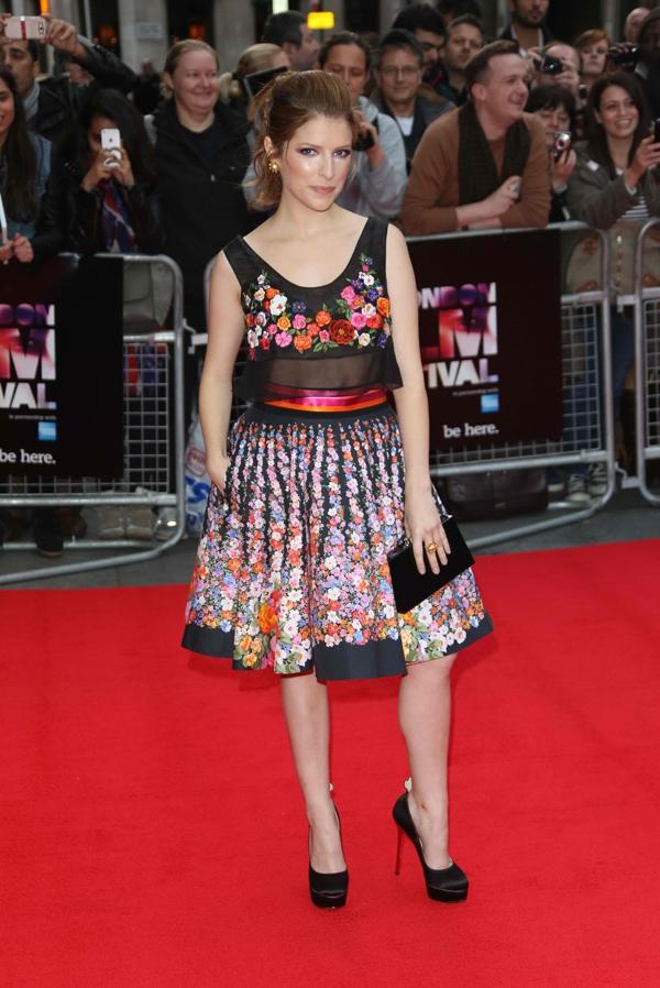 Anna Kendrick wore a floral Alberta Ferretti Spring 2014 two-piece