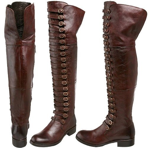 Area Forte '4014' Over-the-Knee Boots in Cuoio