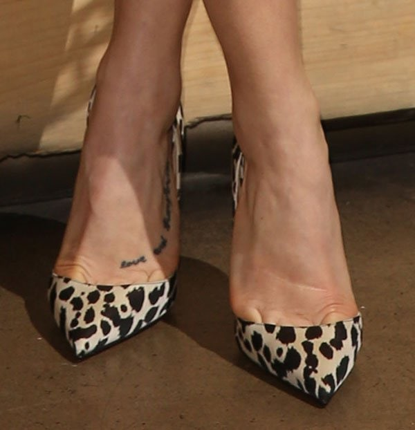 "Ashley Roberts's feet in Christian Louboutin ""Iriza"" pumps"