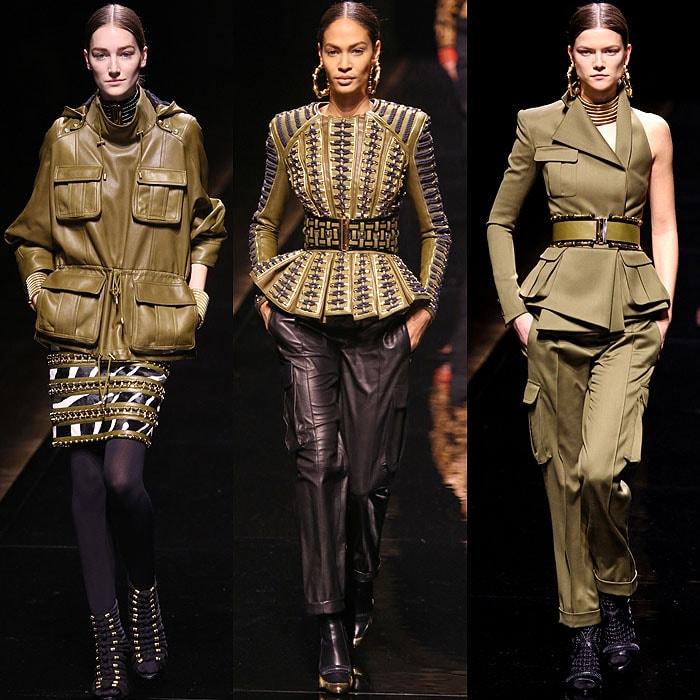 Military-inspired looks from the Balmain Fall 2014 collection