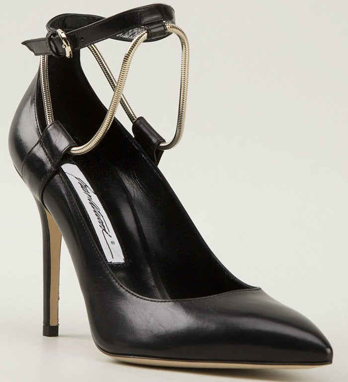 Brian Atwood Kaela Leather Ankle-Strap Pump