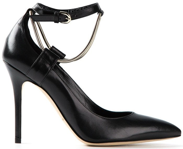 Brian Atwood Kaela Leather Ankle-Strap Pumps