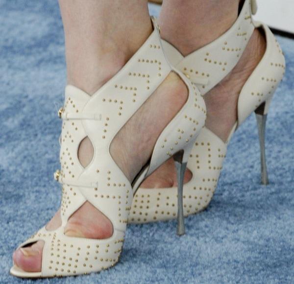 Cate Blanchett'sstudded cutout sandals by Nicholas Kirkwood