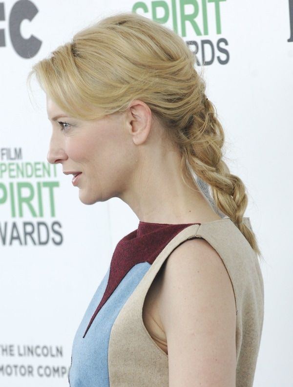 Actress Cate Blanchett attends the 2014 Film Independent Spirit Awards