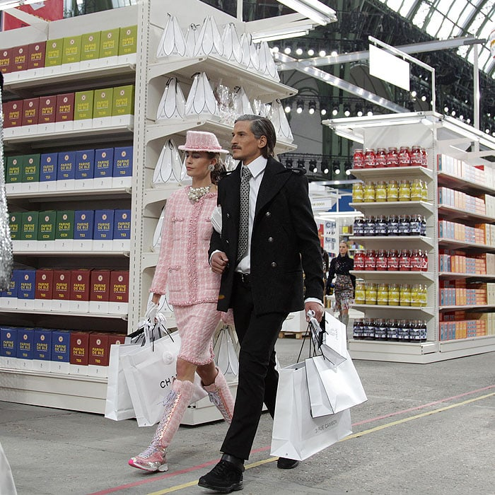 Chanel grocery shopping couple