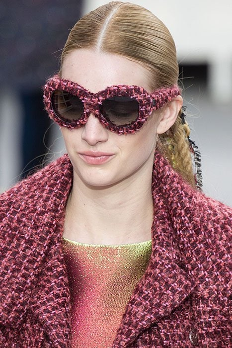 Chanel tweed sunglasses