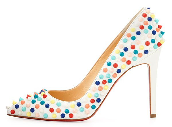 Christian Louboutin Pigalle Spikes Red Sole Pumps