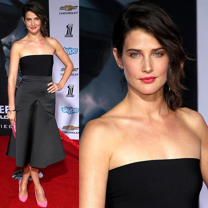 Cobie Smulders at the'Captain America: The Winter Soldier'premiere at the El Capitan Theatre in Hollywood, California, on March 13, 2014