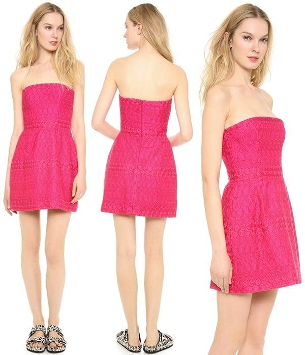 The Italian-made Giambattista Valli dress includes optional sew-on straps