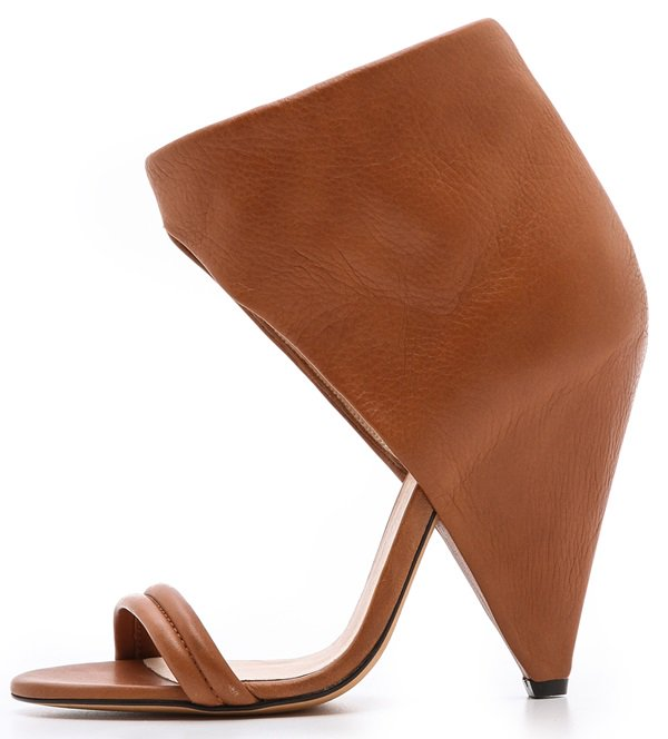 IRO Saika Cone-Heel Ankle-Cuff Sandals