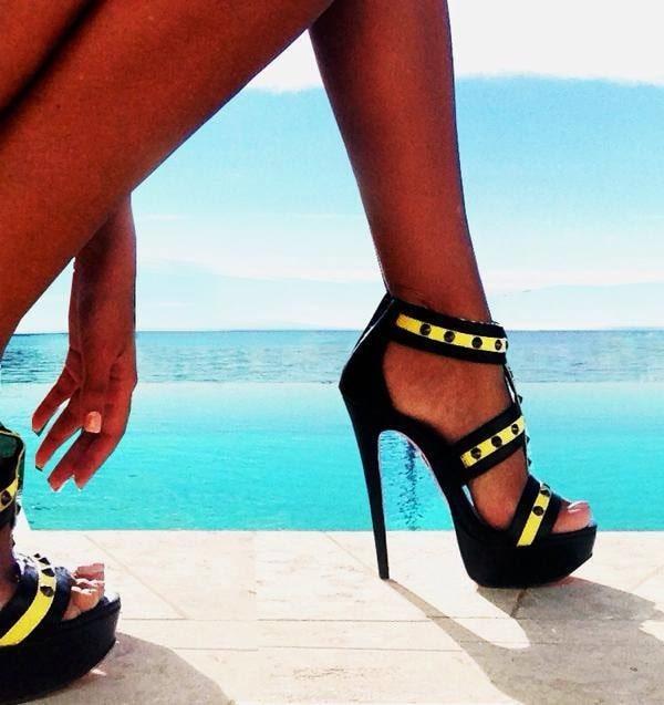 Super High 'Berlin' Stiletto Sandals
