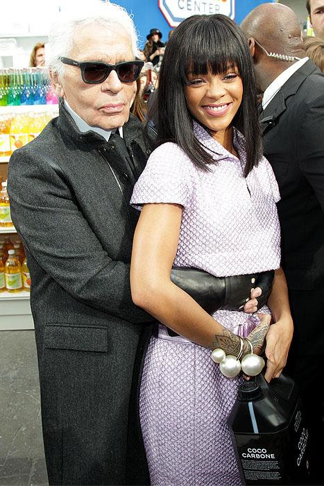 Karl Lagerfeld Rihanna prom pose