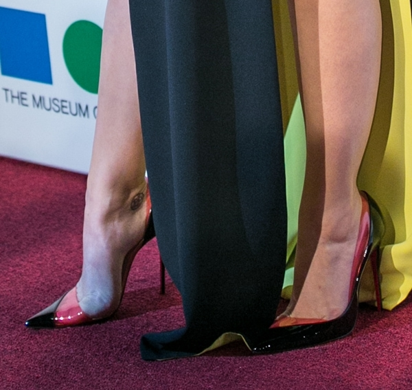 Katy Perry wearing Christian Louboutin 'Miss Rigidaine' d'Orsay pumps