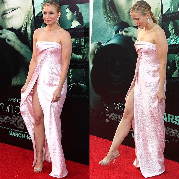Kristen Bell J Mendell pink dress