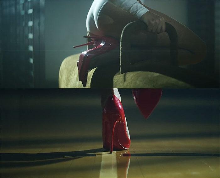 Kylie Minogue red heels Sexercize video
