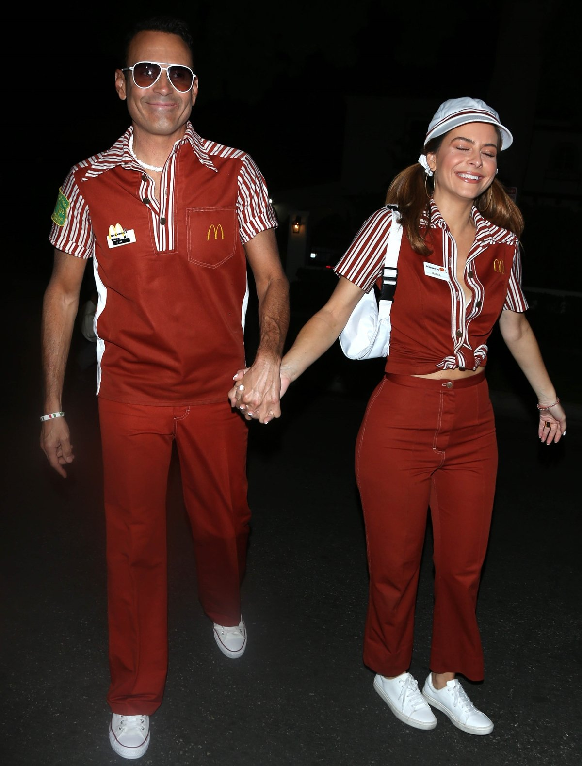 Maria Menounos and her husband Keven Undergaro at the Brought to You by Those Who Drink It Halloween party