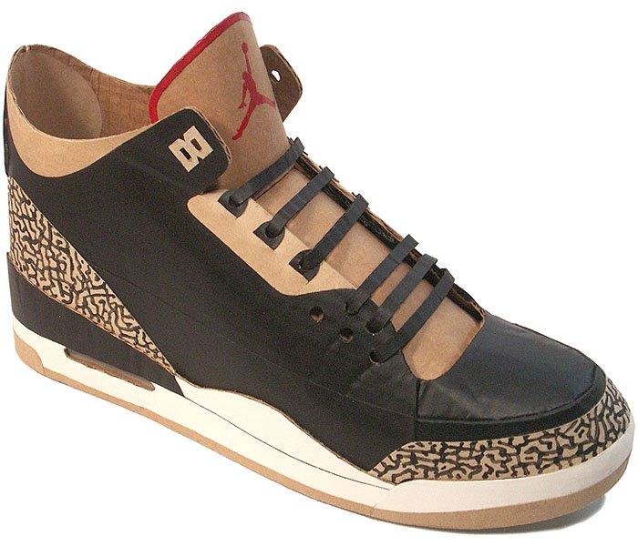 Cardboard Nike Air Jordan III Sneaker