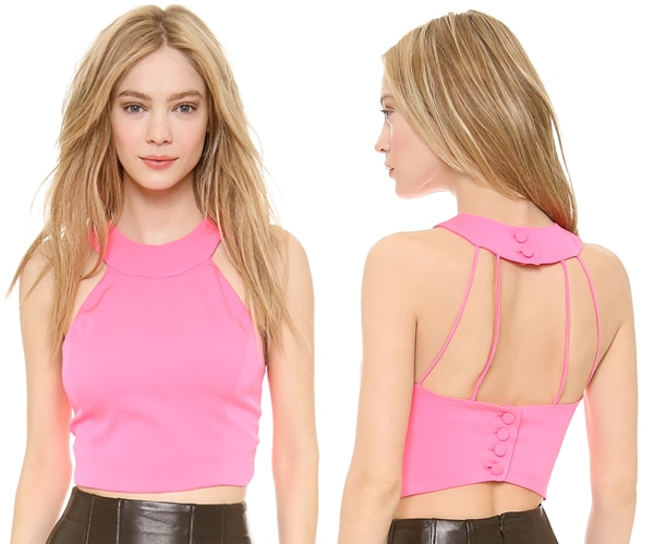 Olcay-Gulsen-Strapped-Back-Crop-Top