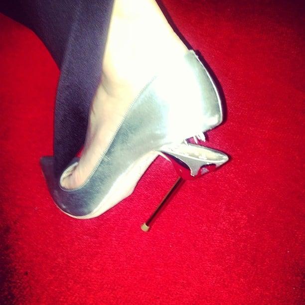 Pixie Lott shows off her broken Sophia Webster heel