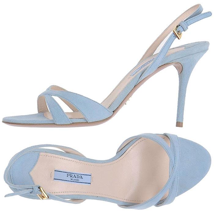 Prada Suede Slingback Sandals