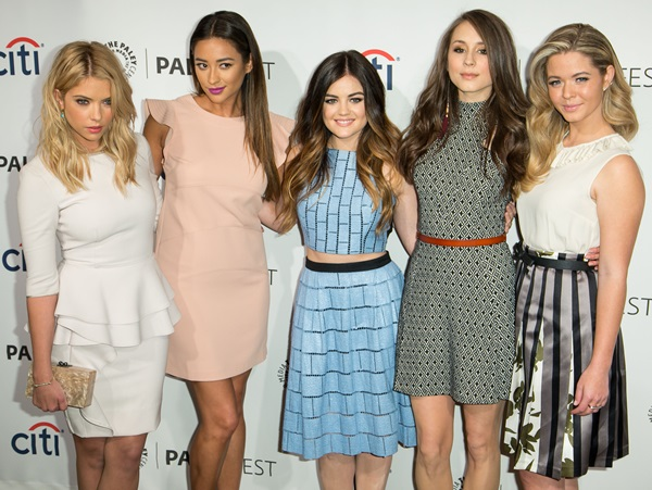 Ashley Benson, Shay Mitchell, Lucy Hale, Troian Bellisario, and Sasha Pieterse at PaleyFest 2014