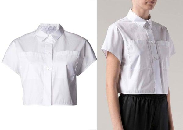 Proenza Schouler Cropped Poplin Shirt