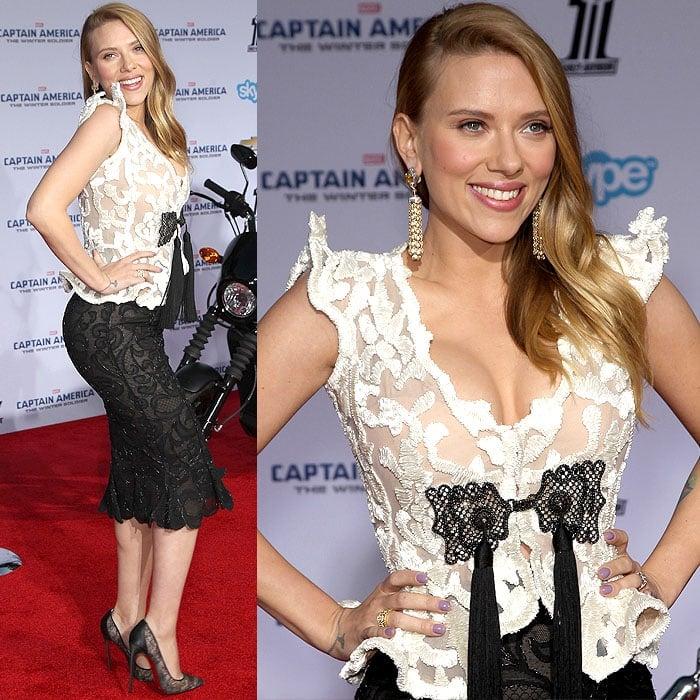 Scarlett Johansson Captain America LA premiere 1