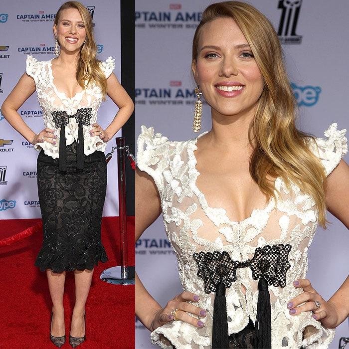 Scarlett Johansson Captain America LA premiere