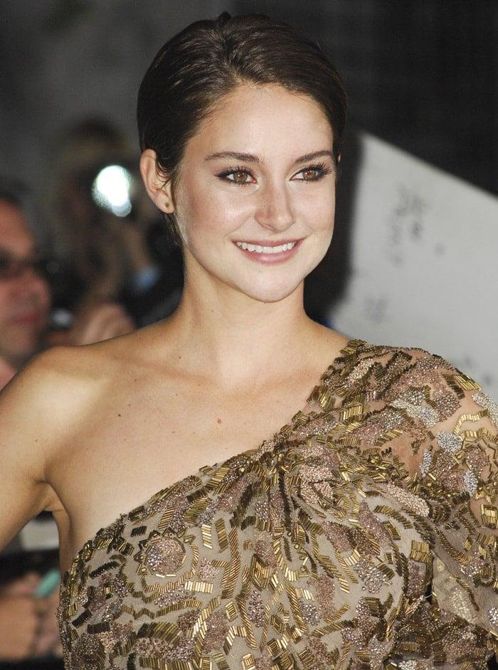 Shailene Woodley at the'Divergent'premiere