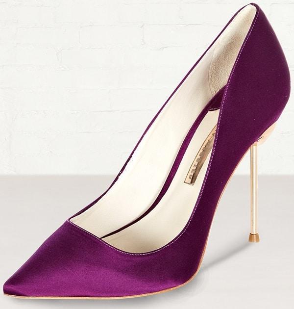 Sophia Webster Purple Coco Satin Flamingo Heel Pumps