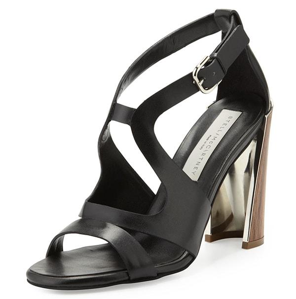 Stella McCartney Wooden-Heel Cutout Sandals