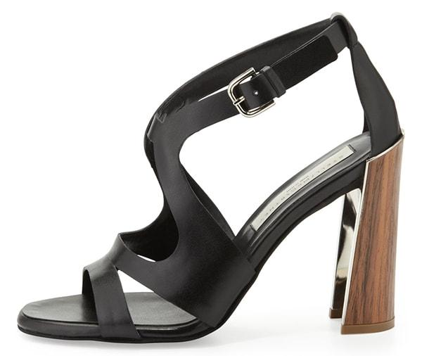 Stella McCartney Wooden-Heel Cutout Sandals1