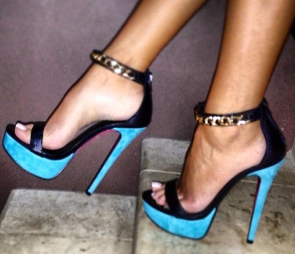Gold Chain Ankle-Strap 'Tropez' Sandals