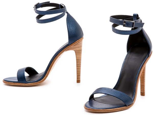 Tibi Amber Single Band Sandals Blue