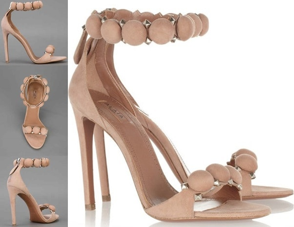 Azzedine Alaia Suede Circle Sandals