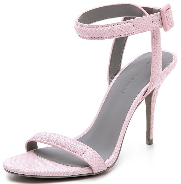 """Alexander Wang """"Antonia"""" Ankle-Strap Sandals in Gummy"""