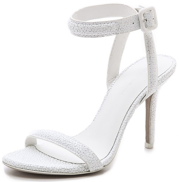"""Alexander Wang """"Antonia"""" Ankle-Strap Sandals in Peroxide"""