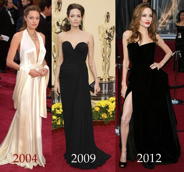 The changing Oscar looks of Angelina Jolie