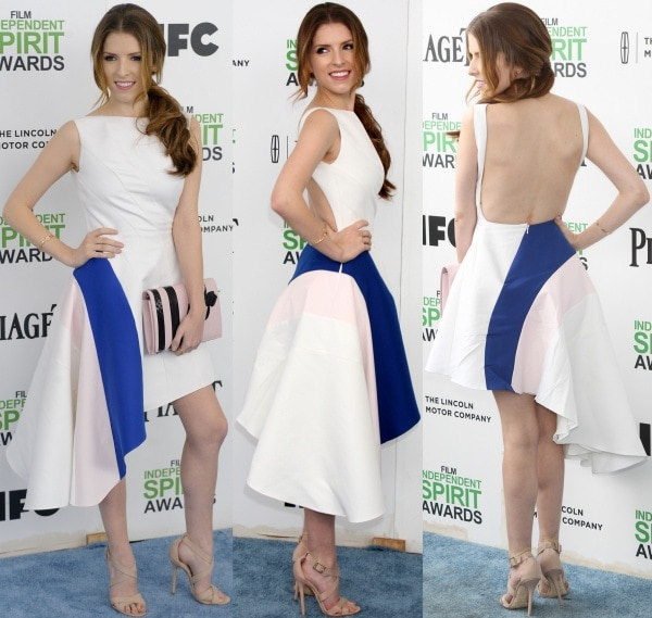Anna Kendrick wearing a white dress from Christian Dior's Resort 2014 collection