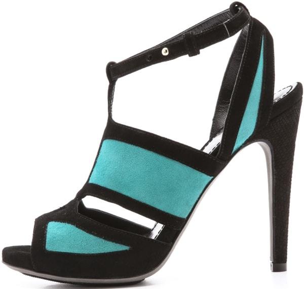 Aperlai Two-Tone Suede Sandals