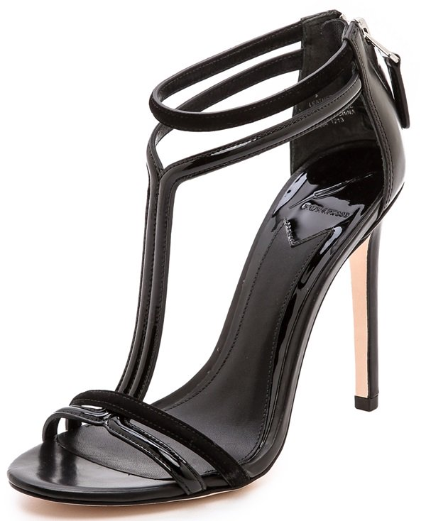B Brian Atwood Lydia T-Strap Sandals
