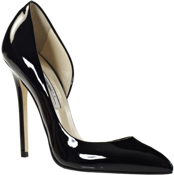 "Brian Atwood ""Patty"" Pumps in Black Patent Leather"