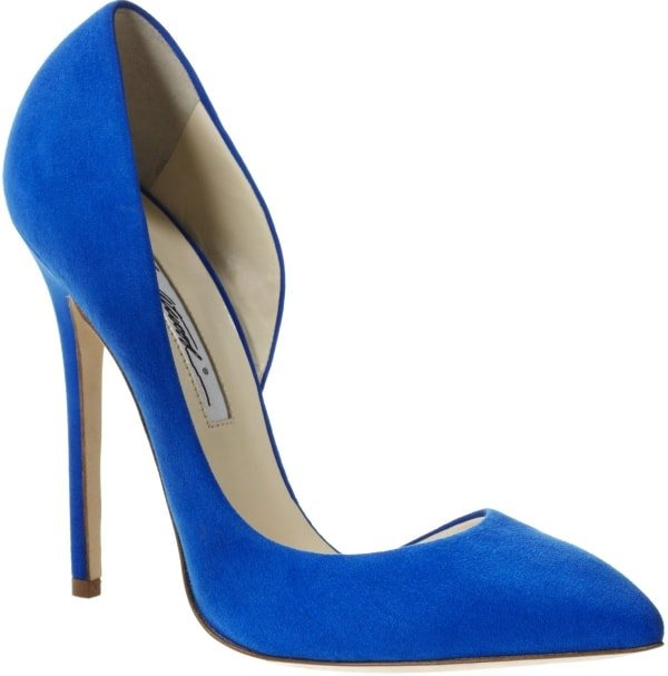 "Brian Atwood ""Patty"" Pumps in Blue Suede"